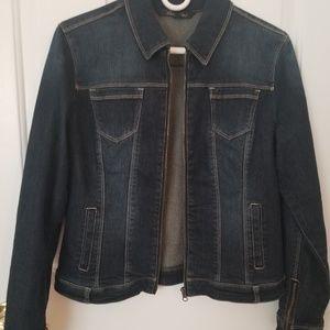 Long sleeve stretch denim jacket